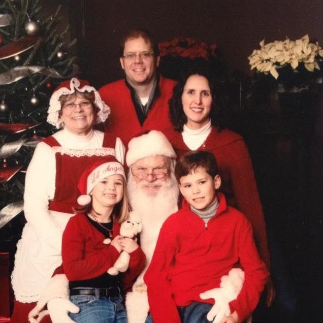 Mr. and Mrs Claus with family